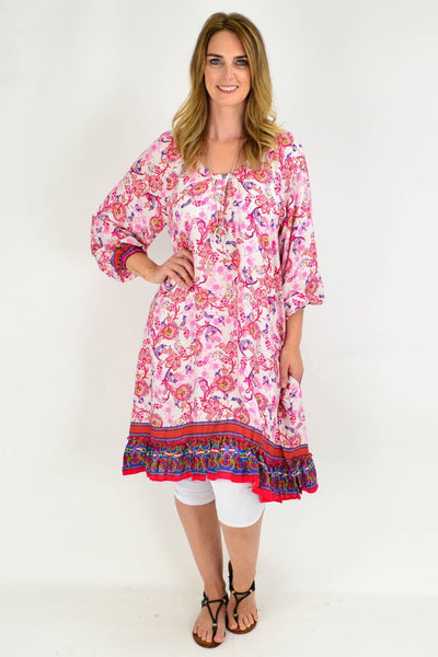 Red Tammy Tunic Dress