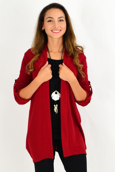 Red Textured Cardigan | I Love Tunics | Tunic Tops | Tunic | Tunic Dresses  | womens clothing online