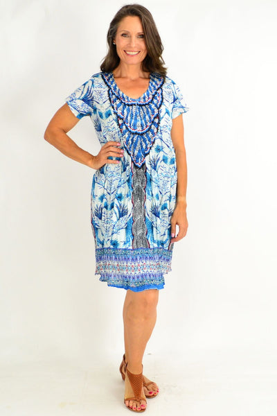 Dream Catcher Blue Tunic Top