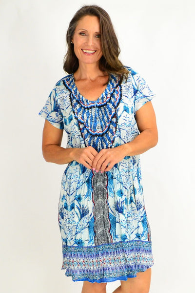 Dream Catcher Blue Tunic Top | I Love Tunics | Tunic Tops | Tunic | Tunic Dresses  | womens clothing online