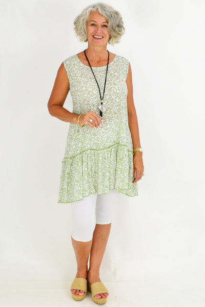 Green Amelia Sleeveless Tunic