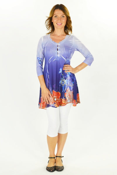 Flowers and Butterfly Tunic