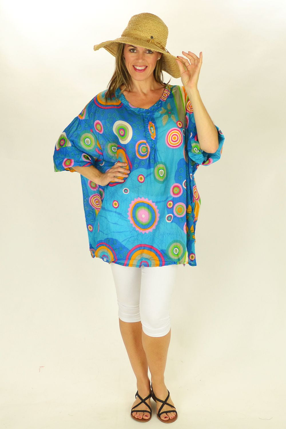 Blue Beachcomber Tunic - at I Love Tunics @ www.ilovetunics.com = Number One! Tunics Destination