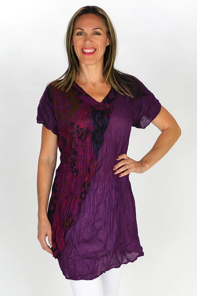 Purple Zoe Tunic - at I Love Tunics @ www.ilovetunics.com = Number One! Tunics Destination