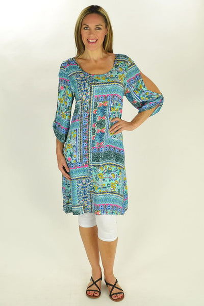Blue Frame Tunic