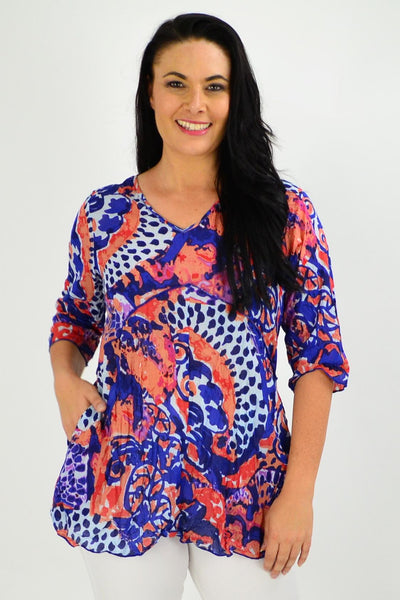 Mary 3/4 Sleeve Tunic Top | I Love Tunics | Tunic Tops | Tunic | Tunic Dresses  | womens clothing online