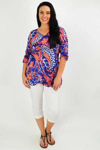 Mary 3/4 Sleeve Tunic Top