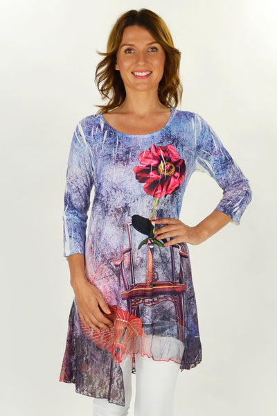 Michelles Flower Tunic - at I Love Tunics @ www.ilovetunics.com = Number One! Tunics Destination