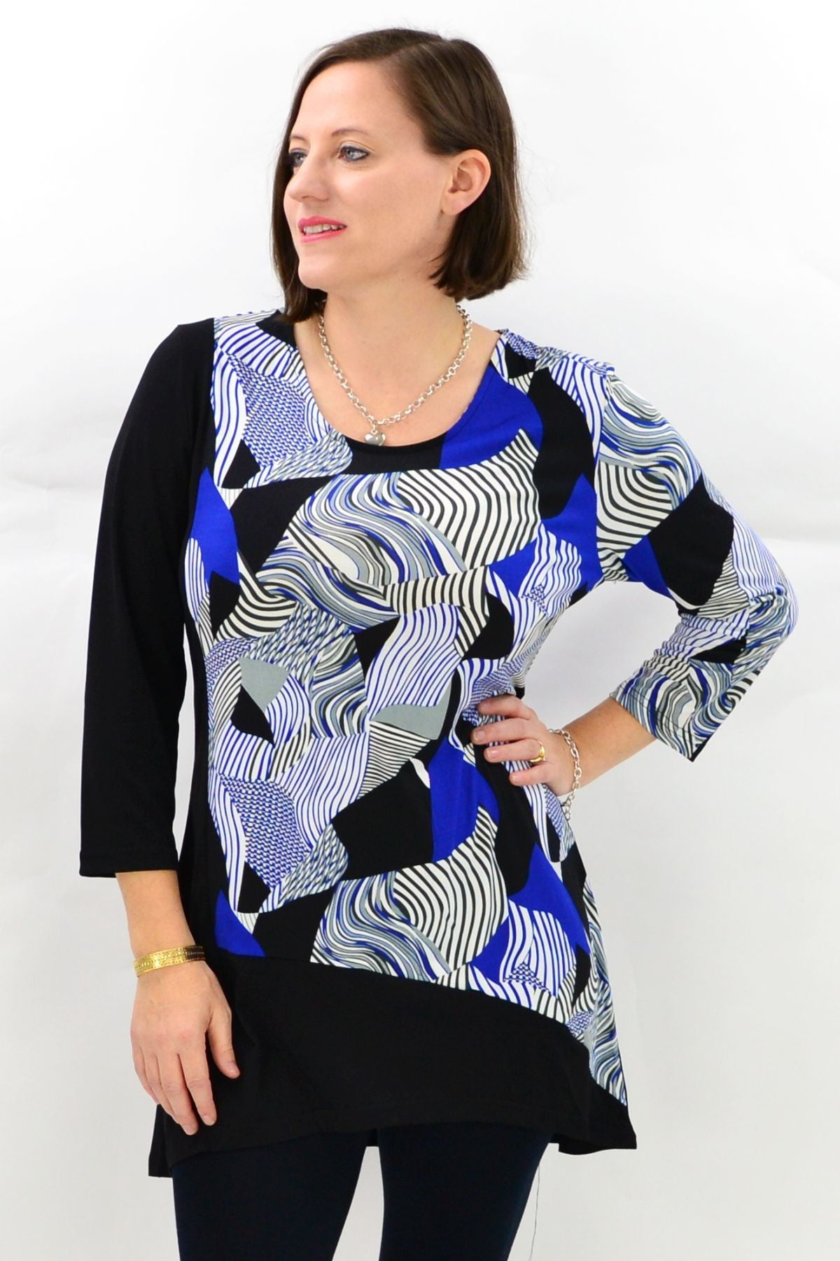 Zoey Blue Black Tunic Top | I Love Tunics | Tunic Tops | Tunic | Tunic Dresses  | womens clothing online