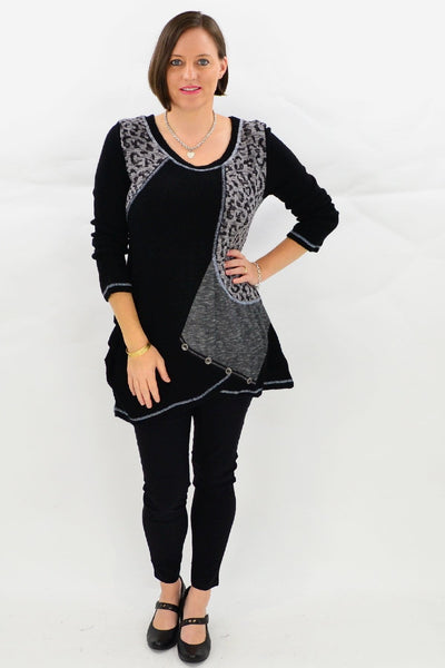 Carlton Animal Print Tunic Top