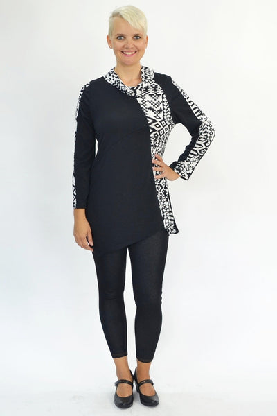Black White Tribal Tunic