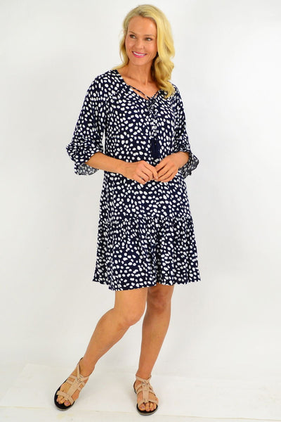 Navy Spot Dandelion Tunic Dress