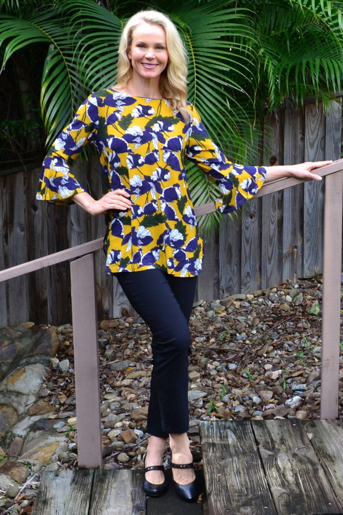 Mustard Floral Boat Neck Tunic Top | I Love Tunics | Tunic Tops | Tunic | Tunic Dresses  | womens clothing online