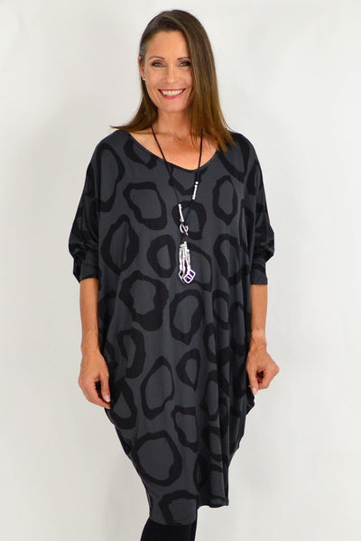 Charcoal Grey Nova Relaxed Tunic | I Love Tunics | Tunic Tops | Tunic | Tunic Dresses  | womens clothing online