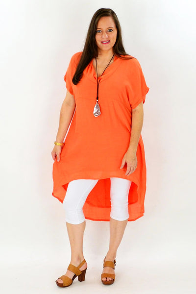 Orange Hayman Island Tunic - at I Love Tunics @ www.ilovetunics.com = Number One! Tunics Destination