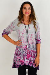 Pink Floral Ferguson Tunic Top | I Love Tunics | Tunic Tops | Tunic | Tunic Dresses  | womens clothing online