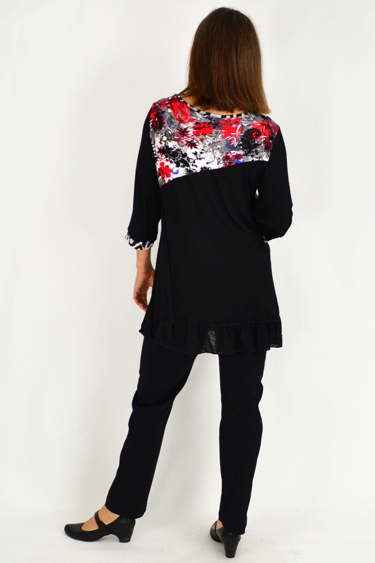 Black Aiko Lace Trim Tunic Top | I Love Tunics | Tunic Tops | Tunic | Tunic Dresses  | womens clothing online