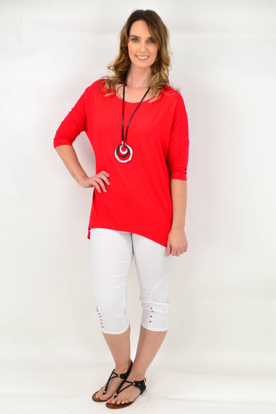 Red Bamboo Tunic Top
