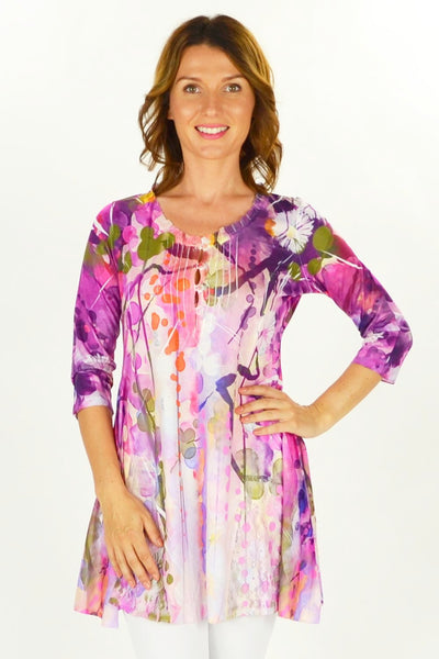 Forest Flowers Tunic - at I Love Tunics @ www.ilovetunics.com = Number One! Tunics Destination