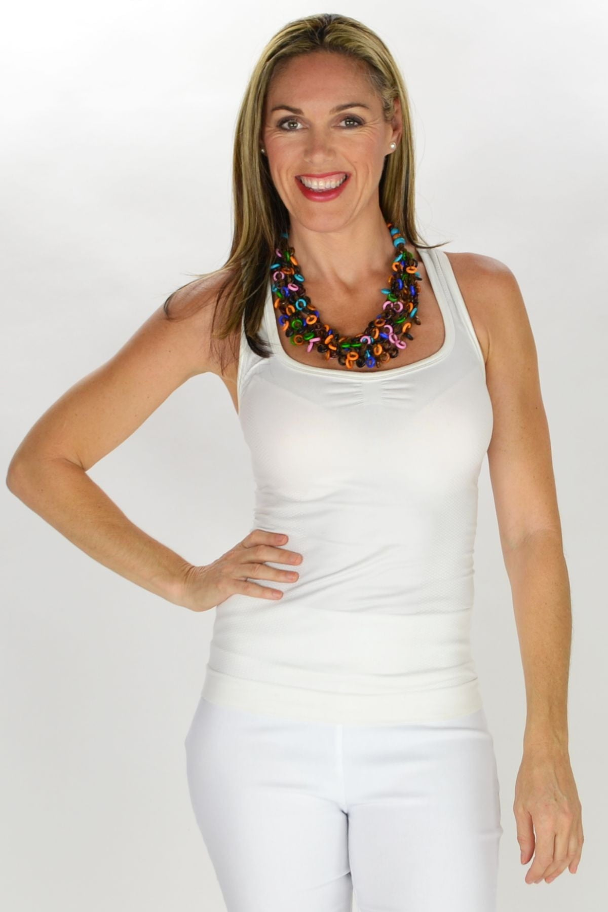 Colourful Multi strand Disks Necklace | I Love Tunics | Tunic Tops | Tunic | Tunic Dresses  | womens clothing online