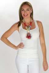 Multicoloured Beads Necklace - at I Love Tunics @ www.ilovetunics.com = Number One! Tunics Destination