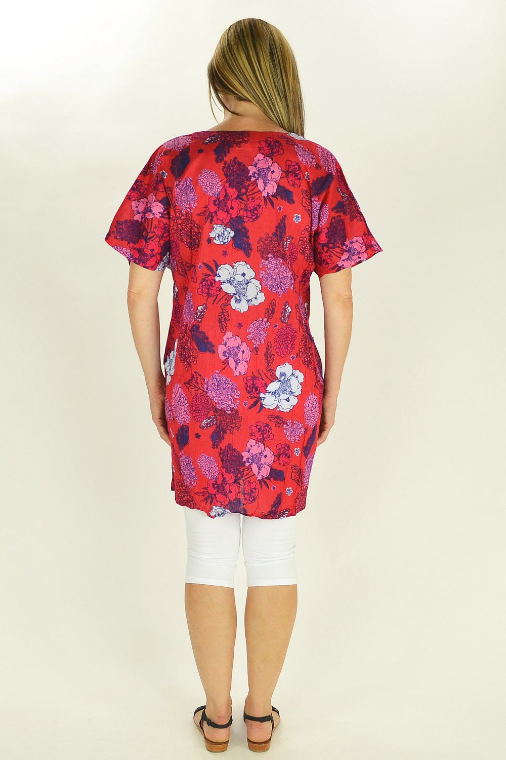 Red Flower Tunic