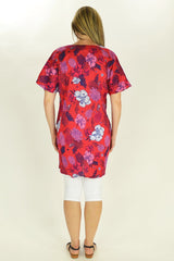 Red Flower Tunic - at I Love Tunics @ www.ilovetunics.com = Number One! Tunics Destination
