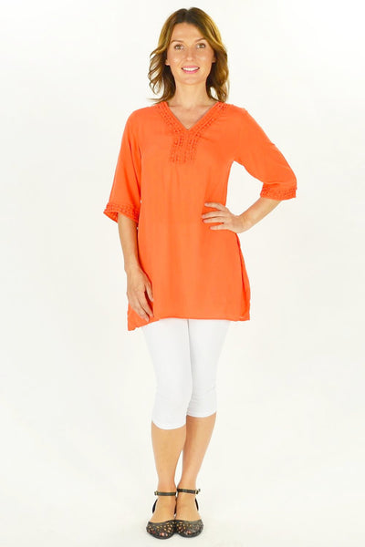 Orange Nancy Tunic