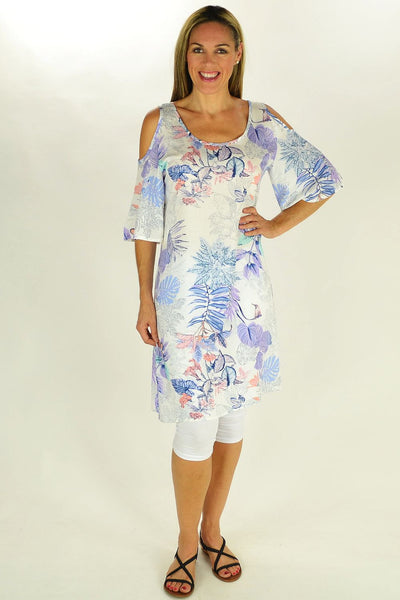 Purple Tropical Garden Tunic