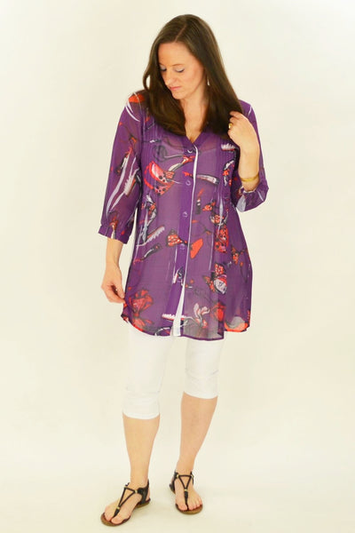Purple Shoe Tunic Shirt