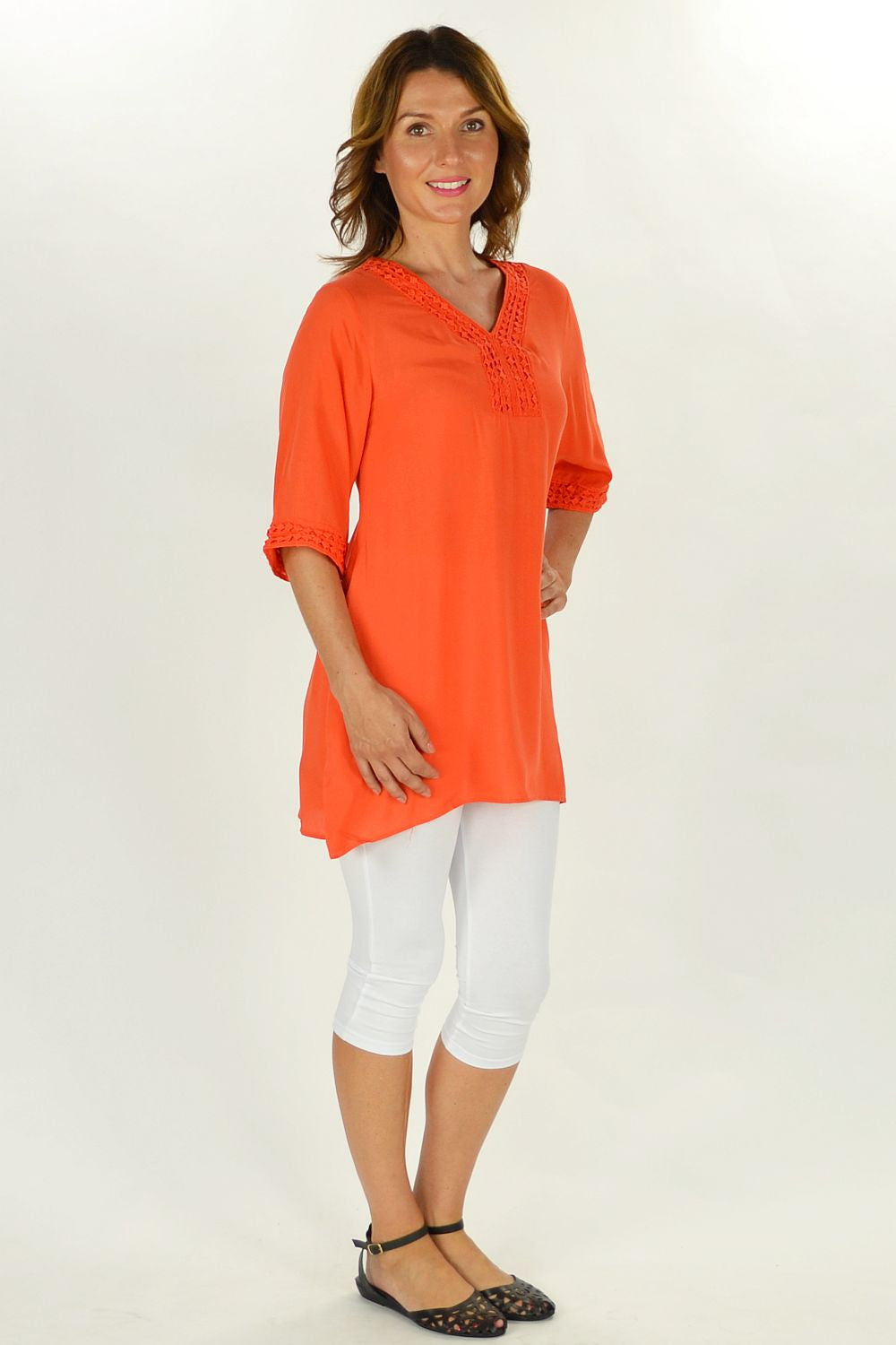 Orange Nancy Tunic | I Love Tunics | Tunic Tops | Tunic | Tunic Dresses  | womens clothing online