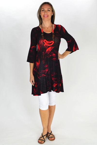 Red Leaf Motto Tunic