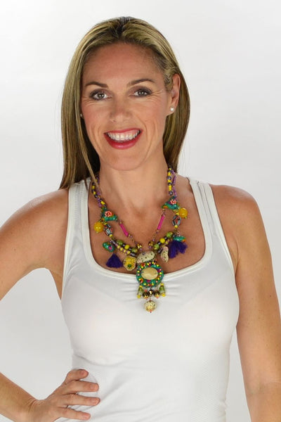 Vibrant Handicraft Necklace | I Love Tunics | Tunic Tops | Tunic | Tunic Dresses  | womens clothing online