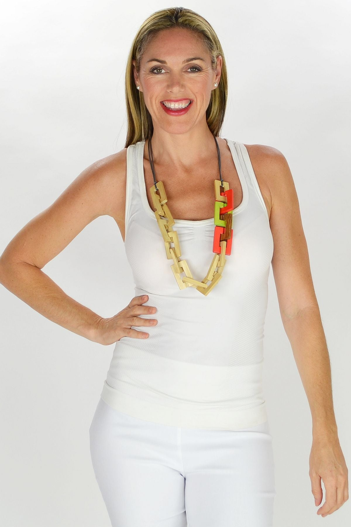 Wooden Chain Necklace - at I Love Tunics @ www.ilovetunics.com = Number One! Tunics Destination