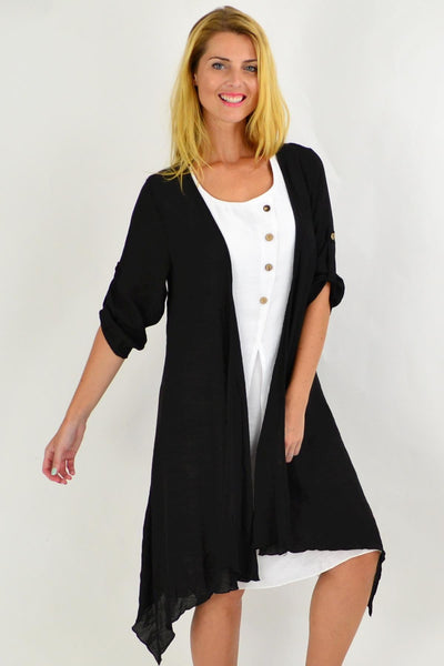 Black Easy Wear Long Summer Cardi | I Love Tunics | Tunic Tops | Tunic | Tunic Dresses  | womens clothing online