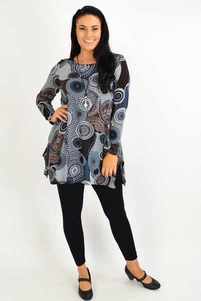 Mandala Winter Fleece Tunic Top