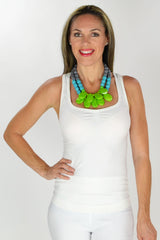 Green Drops Necklace | I Love Tunics | Tunic Tops | Tunic | Tunic Dresses  | womens clothing online
