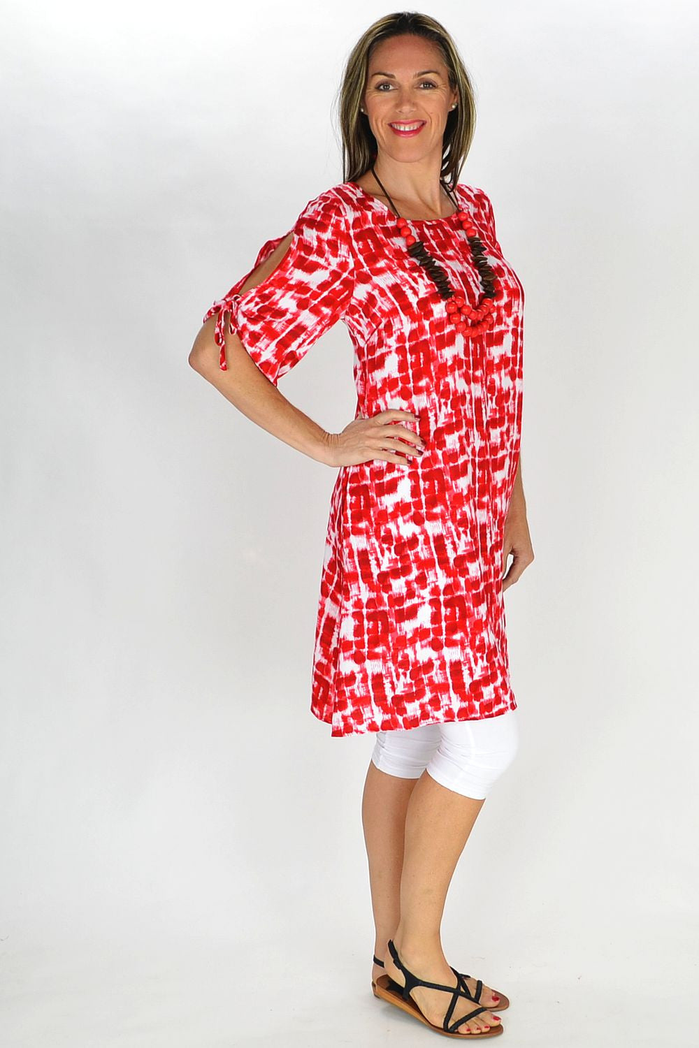 Red Relaxed Tunic - at I Love Tunics @ www.ilovetunics.com = Number One! Tunics Destination