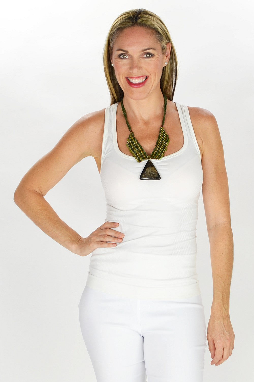 Golden Pendant Necklace - at I Love Tunics @ www.ilovetunics.com = Number One! Tunics Destination