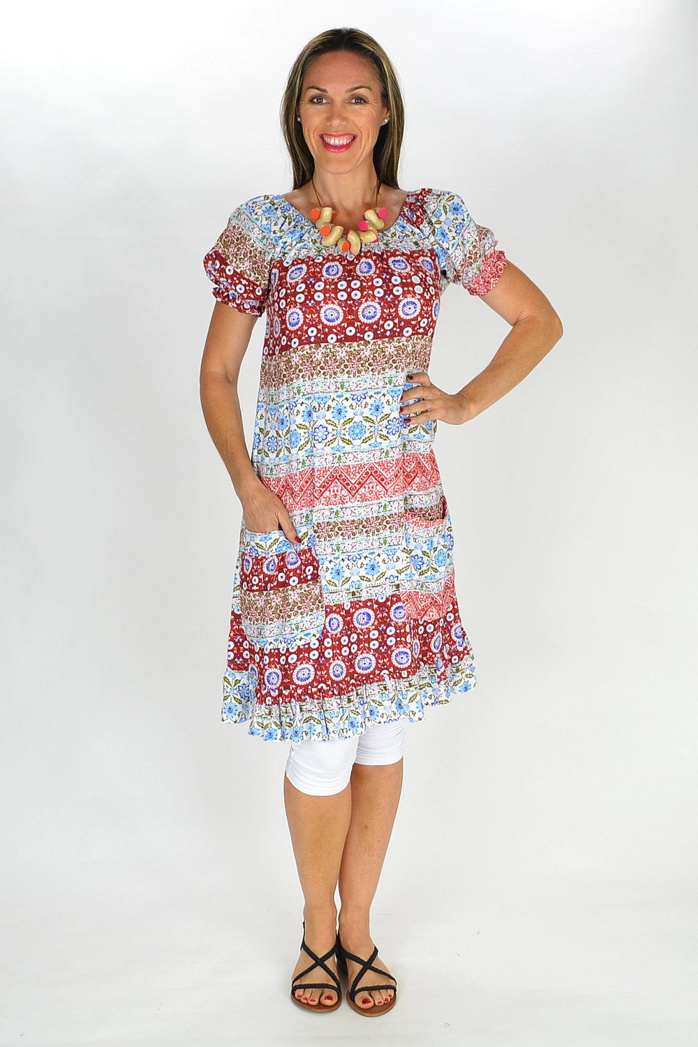 Festive Floral Tunic - at I Love Tunics @ www.ilovetunics.com = Number One! Tunics Destination