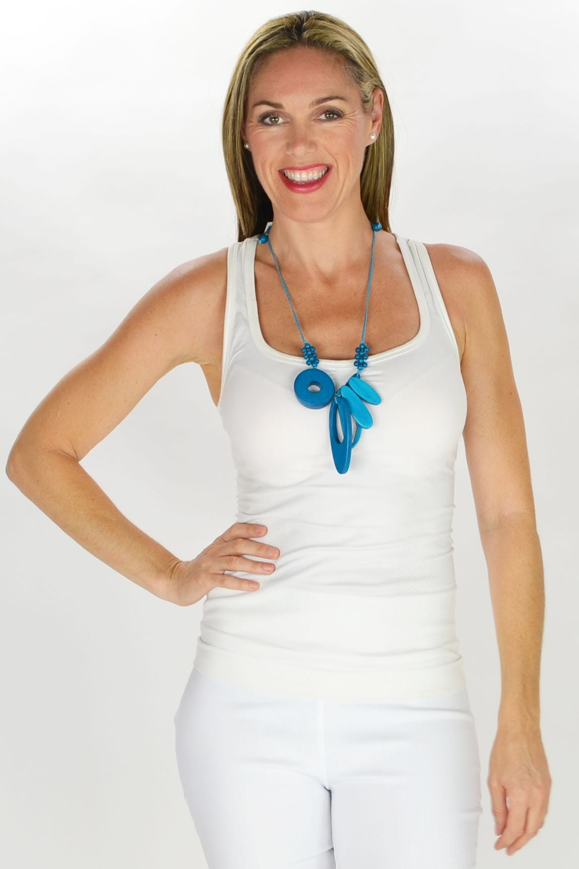 Debbies Blue Necklace | I Love Tunics | Tunic Tops | Tunic Dresses | Women's Tops | Plus Size Australia | Mature Fashion