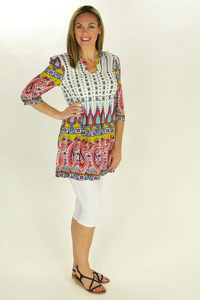 Peppa Paisley Tunic - at I Love Tunics @ www.ilovetunics.com = Number One! Tunics Destination