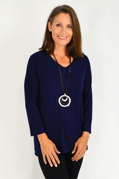 Simple Elegant Navy Tunic Top | I Love Tunics | Tunic Tops | Tunic | Tunic Dresses  | womens clothing online