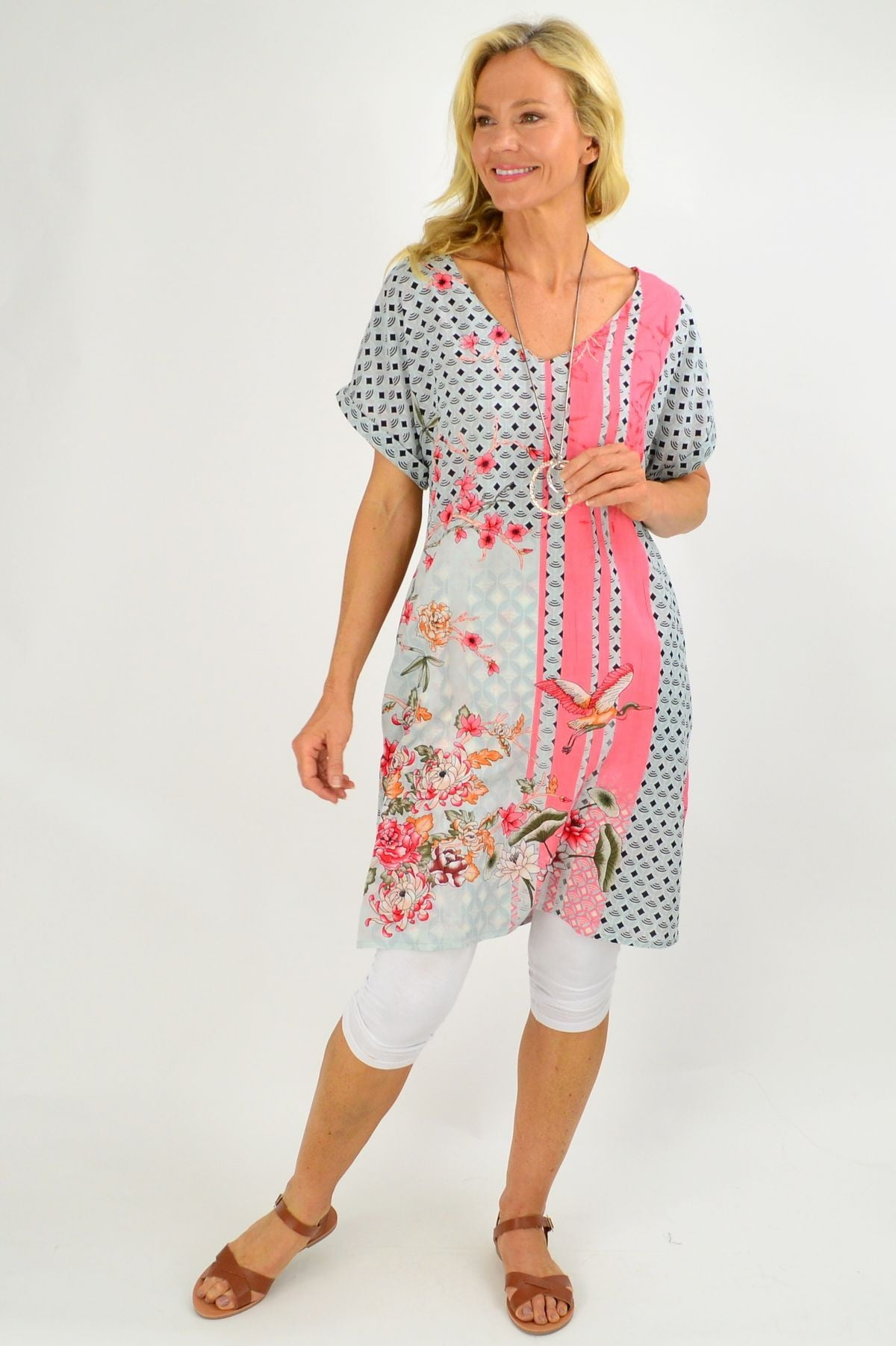 Reversible Cherry Blossom Tunic Shift Dress | I Love Tunics | Tunic Tops | Tunic | Tunic Dresses  | womens clothing online