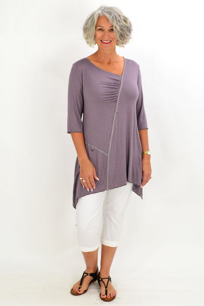 Grey Heron Island Tunic - at I Love Tunics @ www.ilovetunics.com = Number One! Tunics Destination
