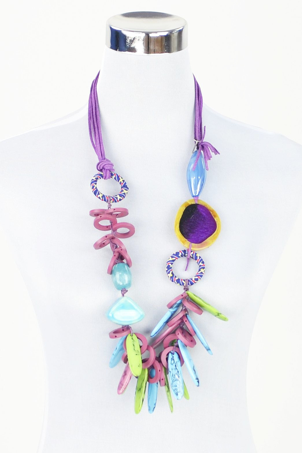 Pollys Purple Necklace - at I Love Tunics @ www.ilovetunics.com = Number One! Tunics Destination