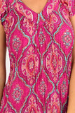 Hot Pink Pattern Short Sleeve Tunic Dress | I Love Tunics | Tunic Tops | Tunic | Tunic Dresses  | womens clothing online