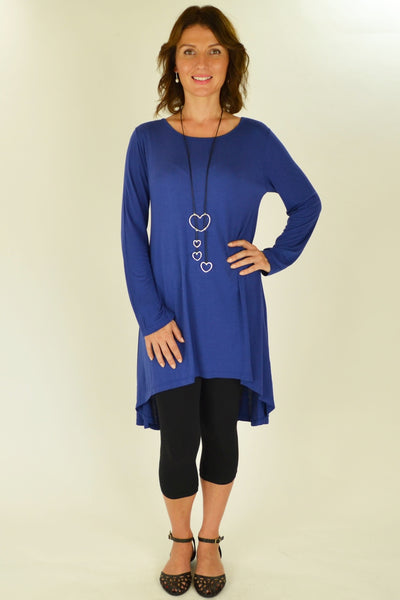 Cobalt Blue Essential Tunic Top