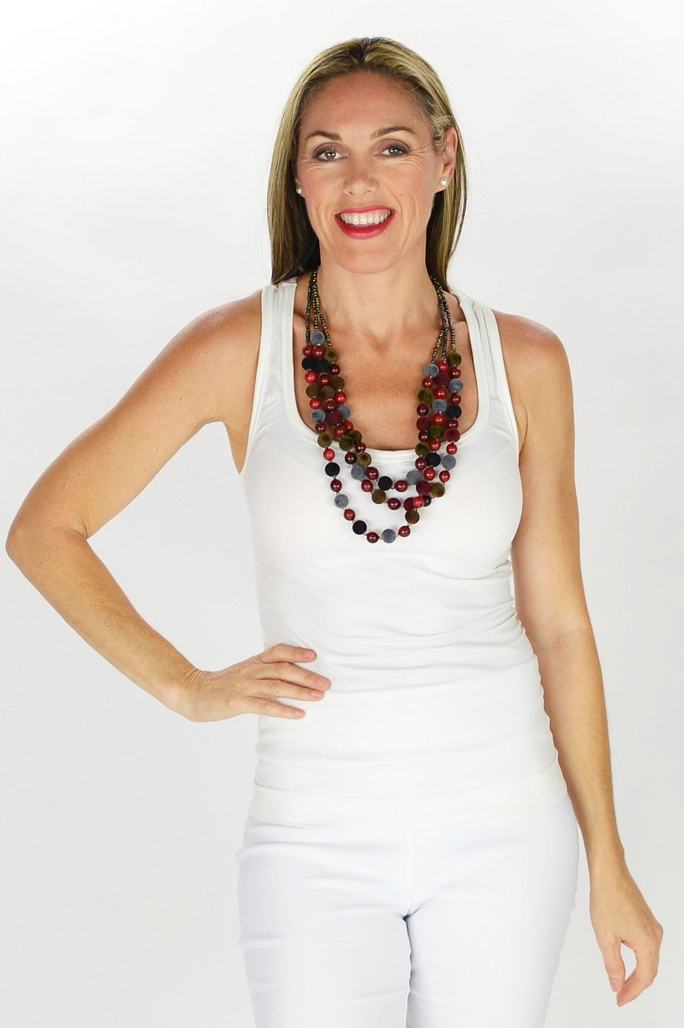 Multilayer Beaded Necklace - at I Love Tunics @ www.ilovetunics.com = Number One! Tunics Destination