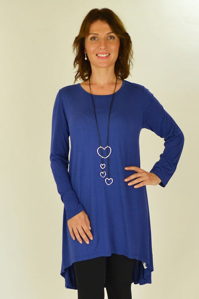 Cobalt Blue Essential Tunic Top - at I Love Tunics @ www.ilovetunics.com = Number One! Tunics Destination